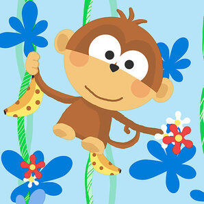 CM28602 Cheeky Monkeys Norwall Wallcoverings